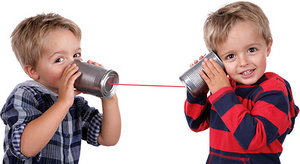 kids on the phone - Copyright – Stock Photo / Register Mark